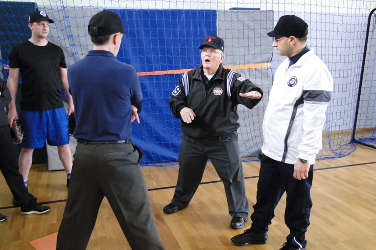 Umpire instructors provide hands-on instruction