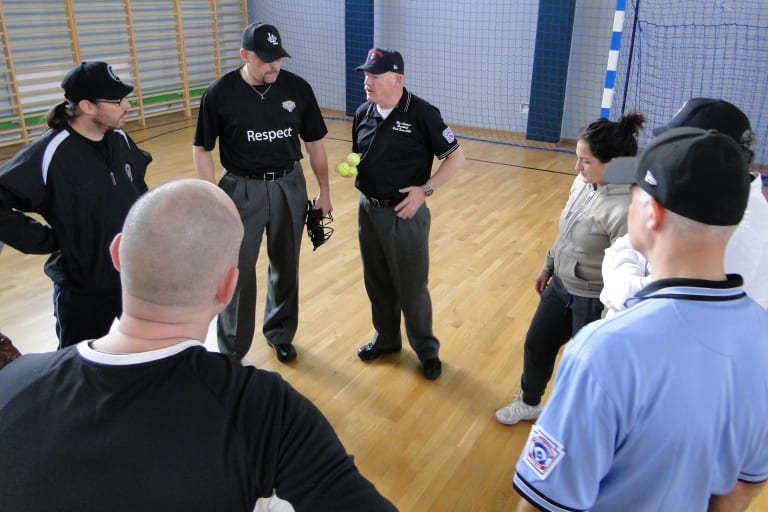 Umpires break out into small group sessions