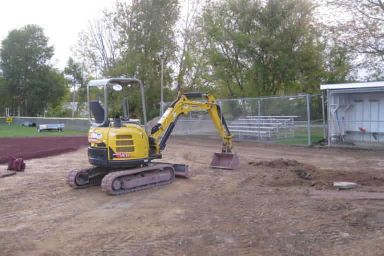 equipment working on field