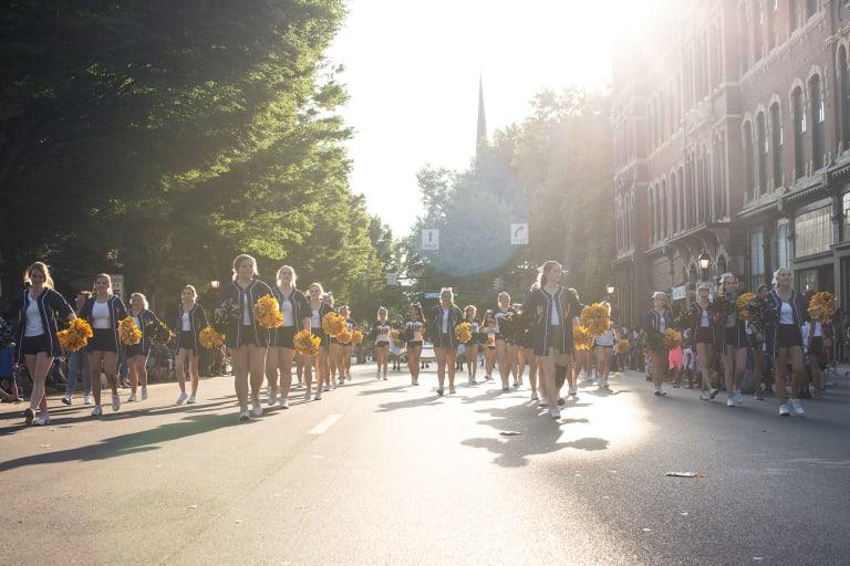 Cheerleaders in parade