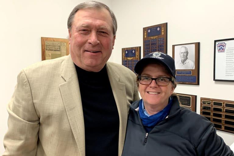 Elizabeth Osder with Gerry Davis