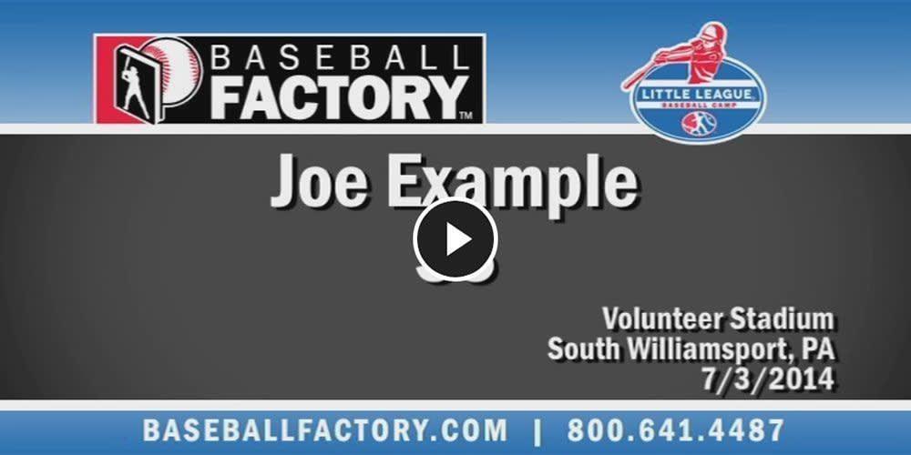 Baseball Factory Video Example