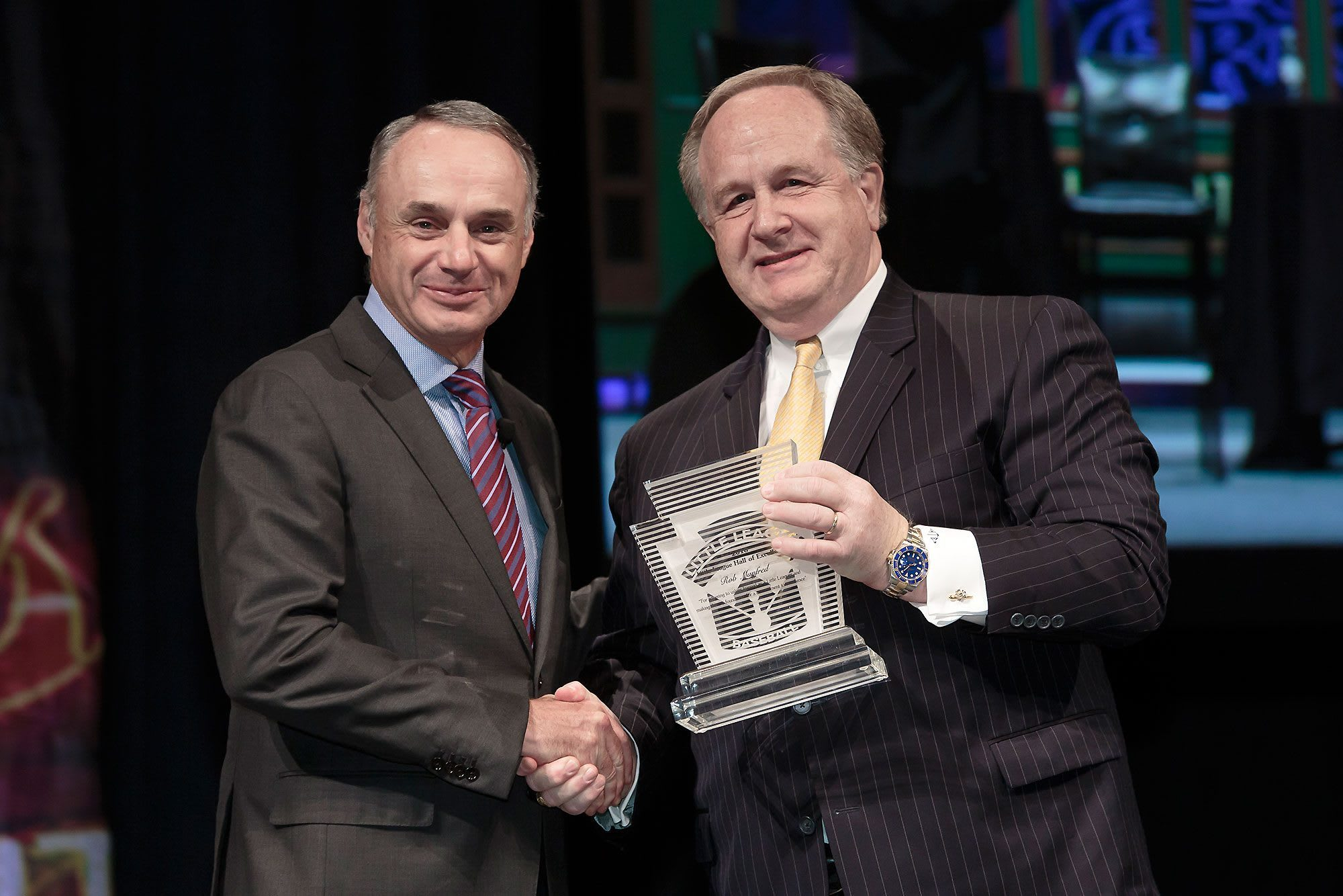 Rob Manfred and Hugh Tanner