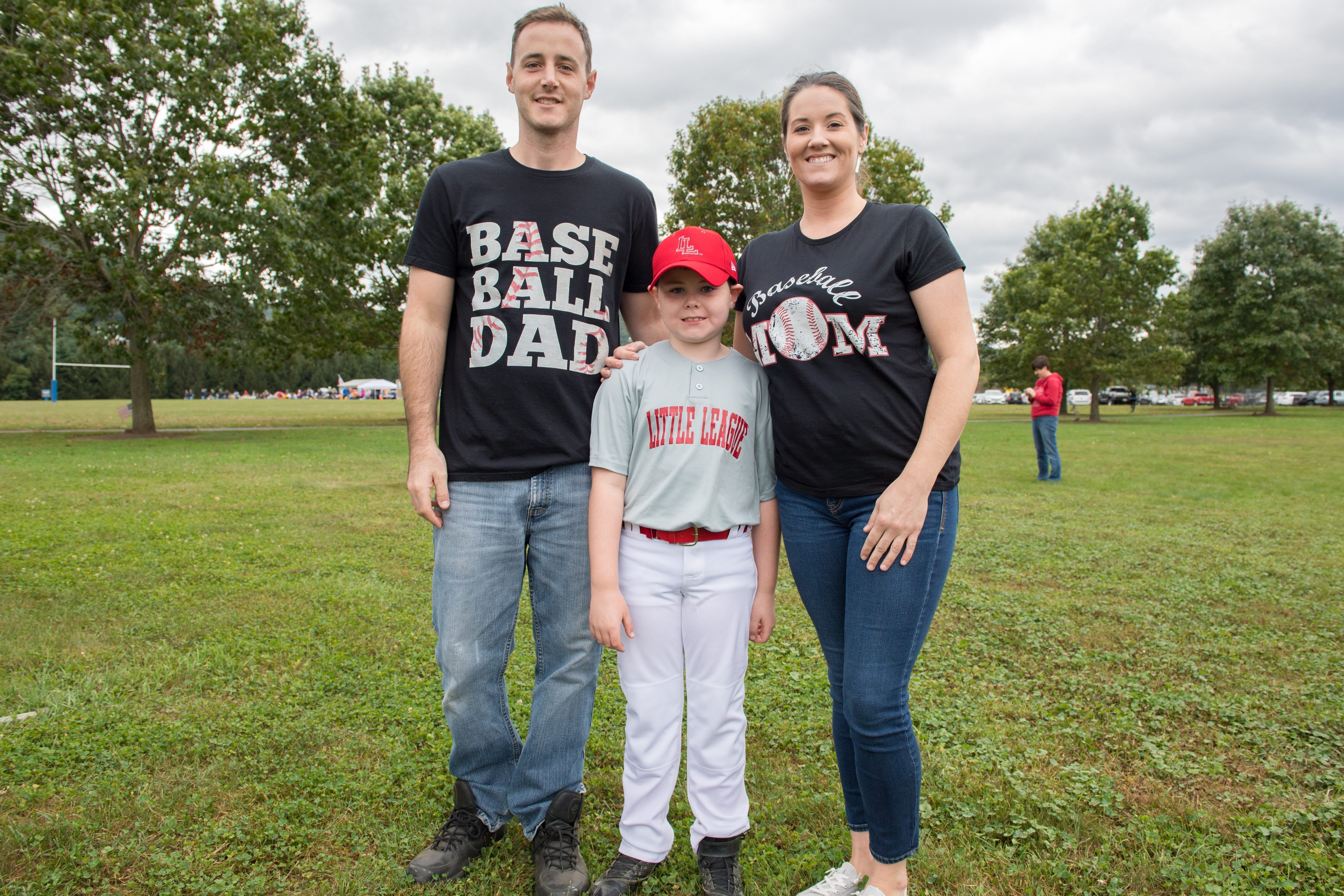Little League Mom and Dad