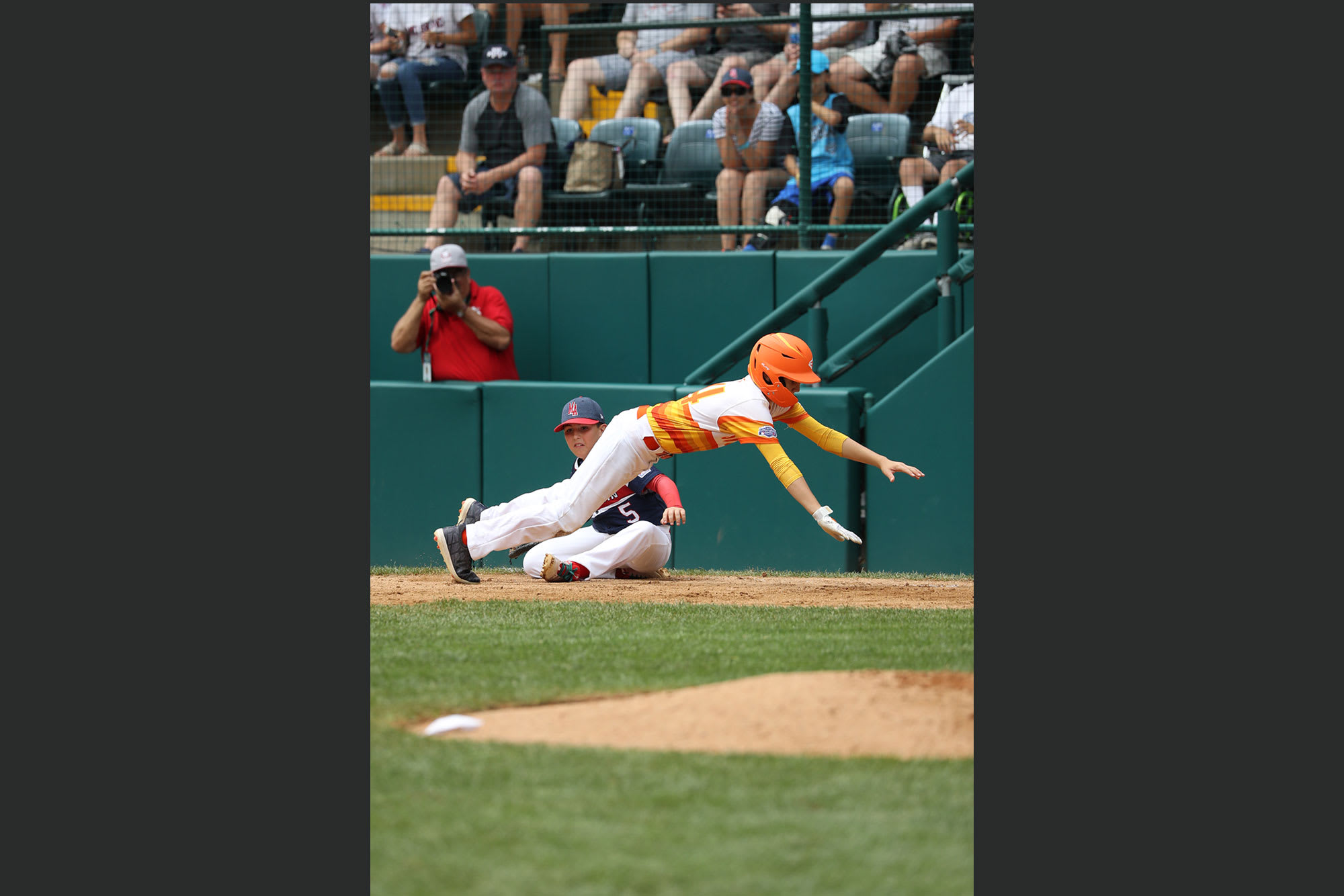 southwest player sliding into base