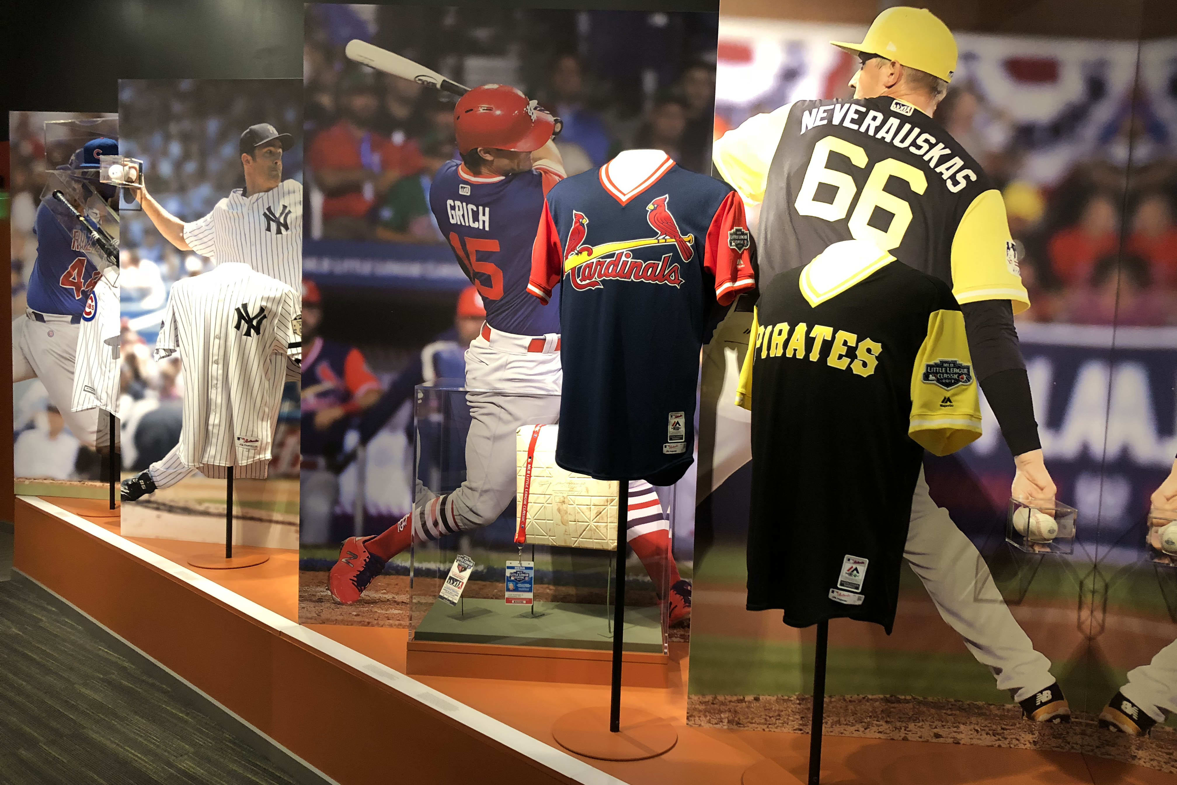 MLB Exhibit Featuring Artifacts from MLB stars