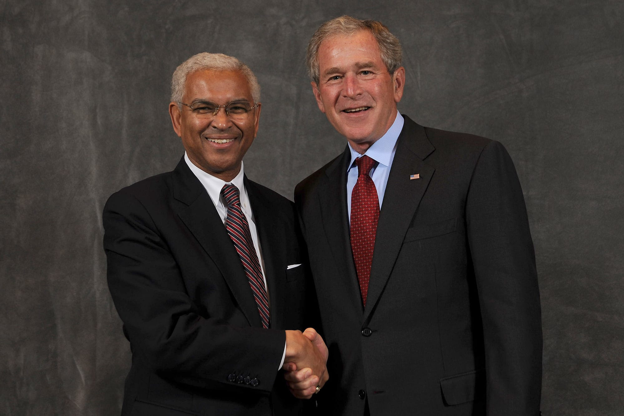 Dwight Raiford and George W. Bush