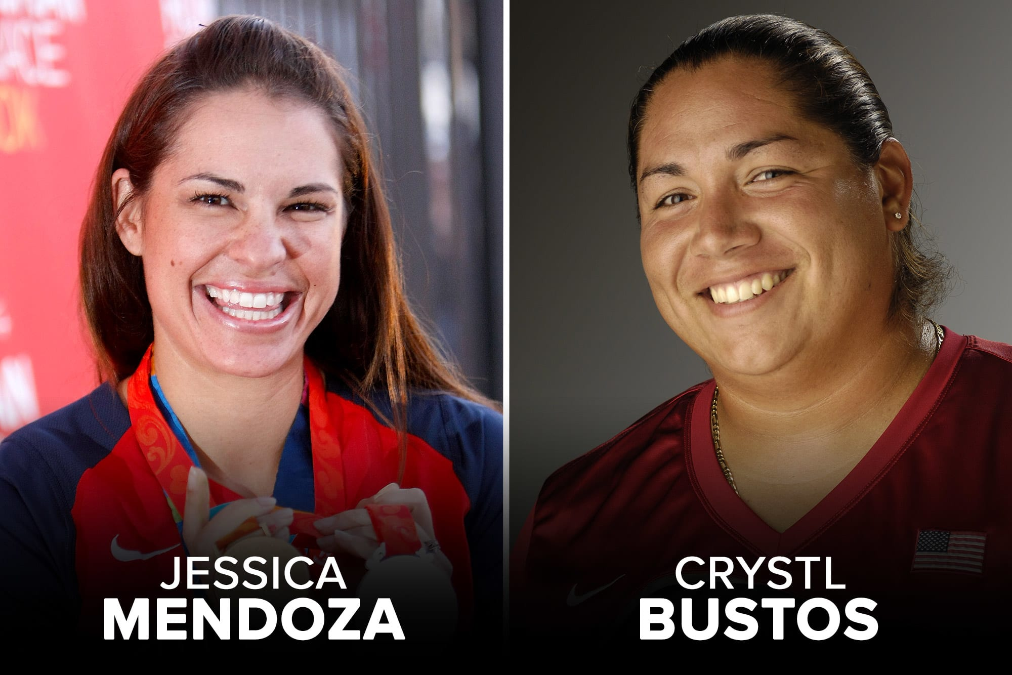 Jessica Mendoza and Crystl Bustos