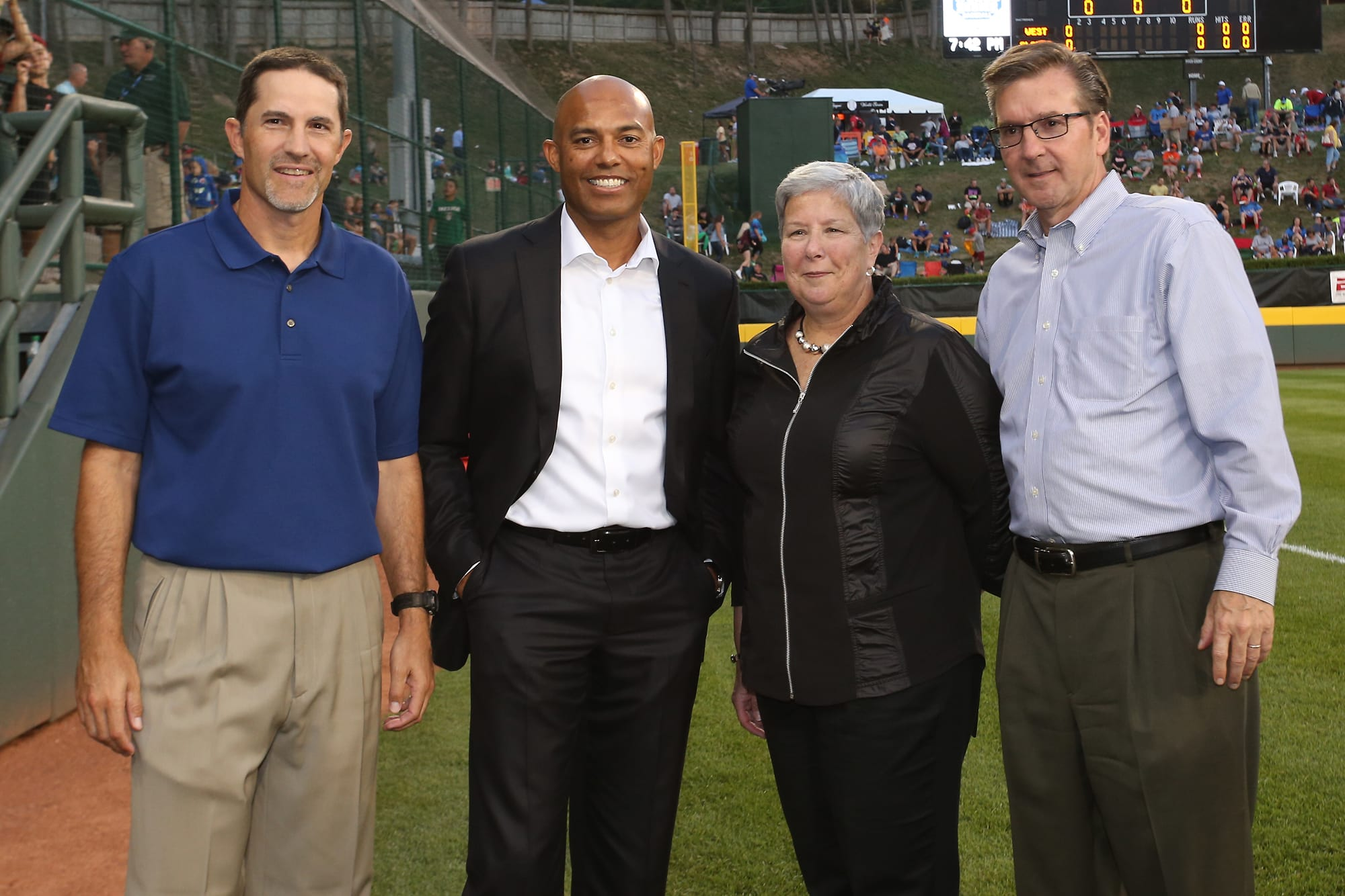 Mike Mussina, Mariano Rivera, Dr. Davie Jane Gilmour, & Stephen D. Keener