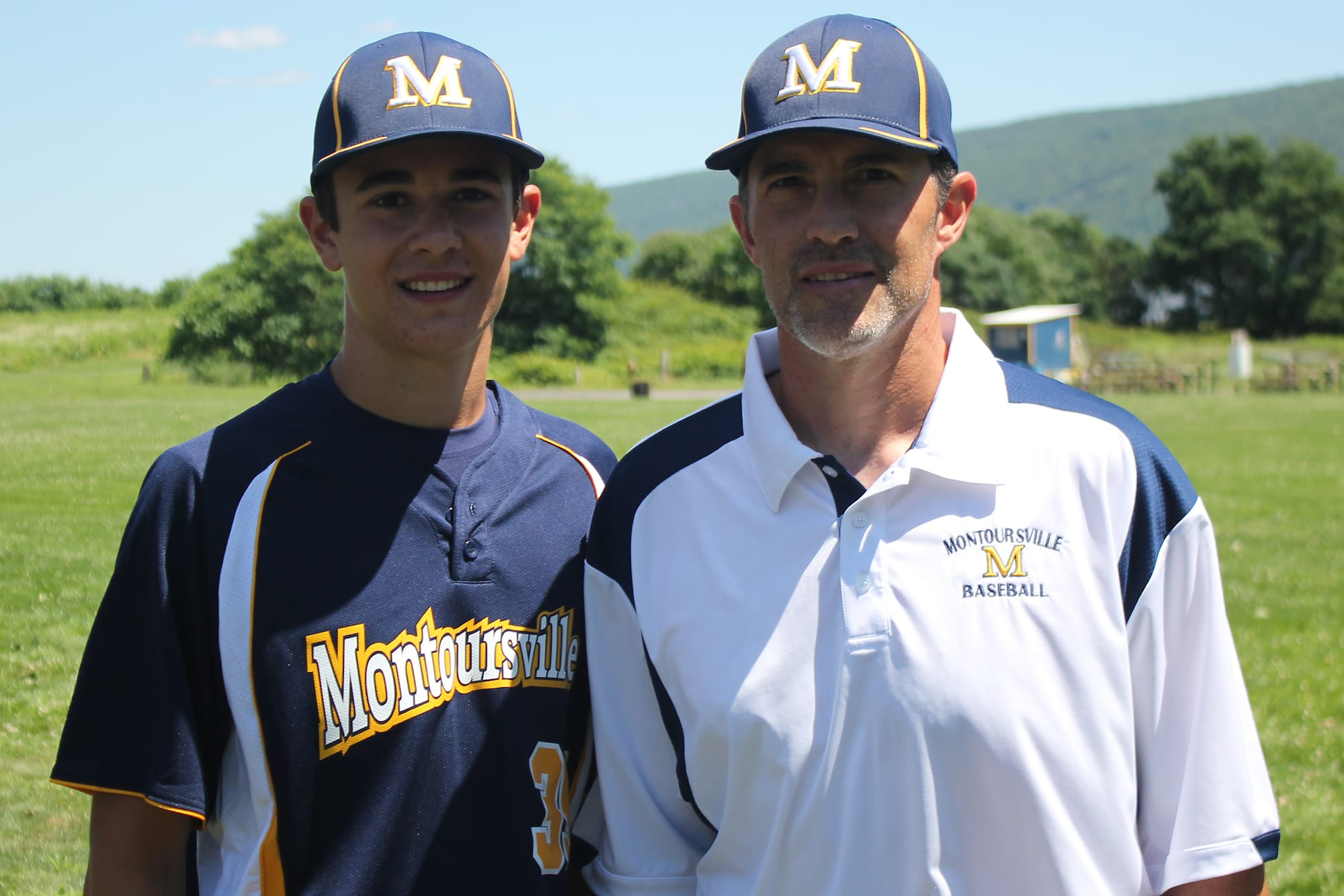 Mike Mussina and his oldest son, Brycen.