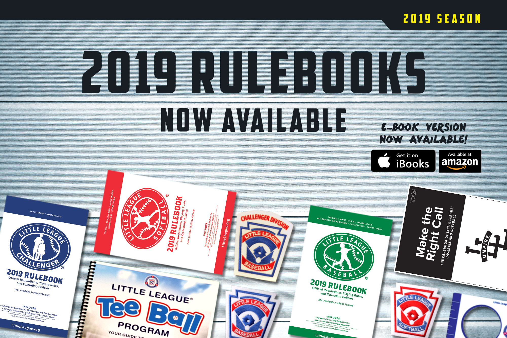2019 Little League Rulebooks