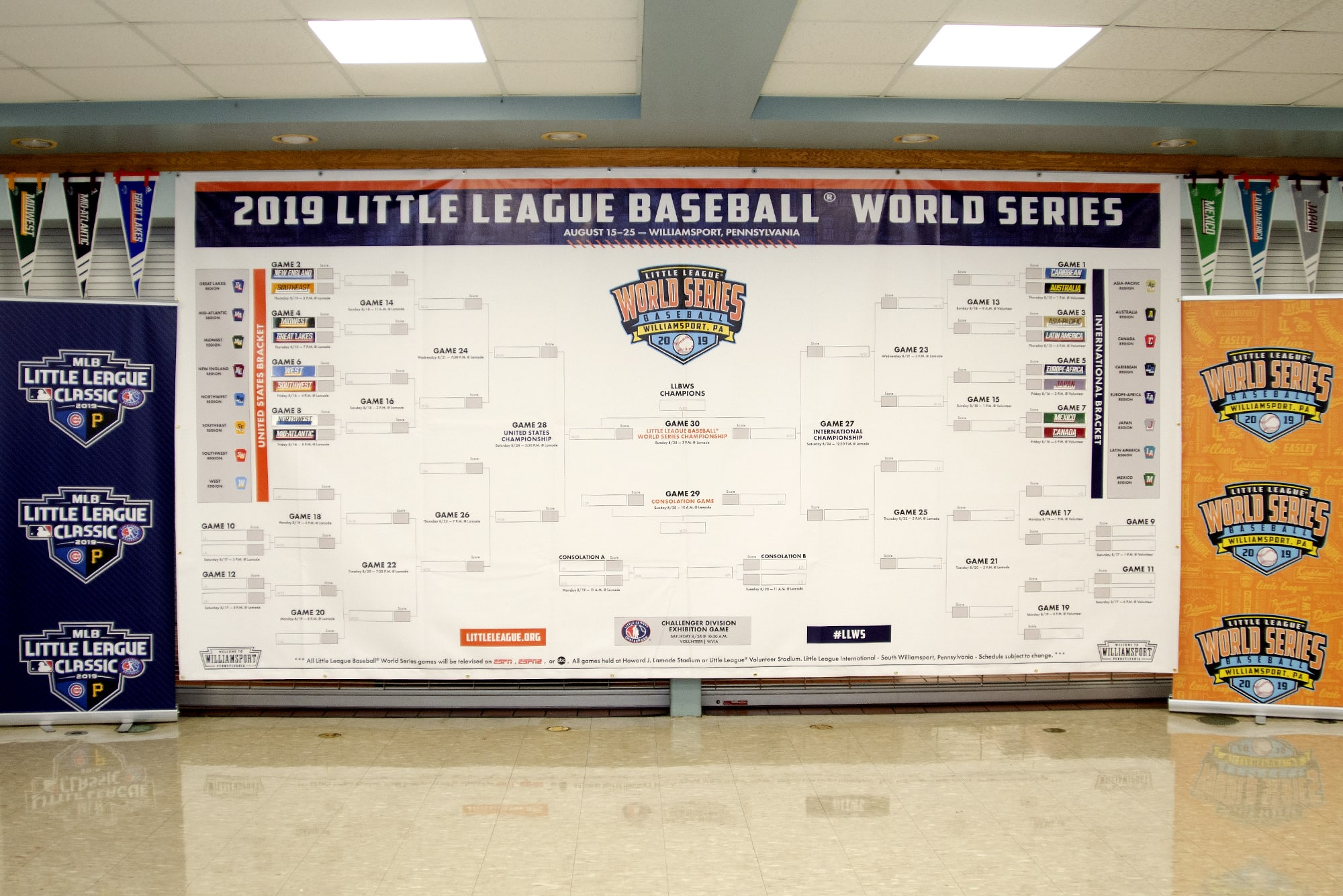 2019 LLBWS Luncheon First Round Pairings