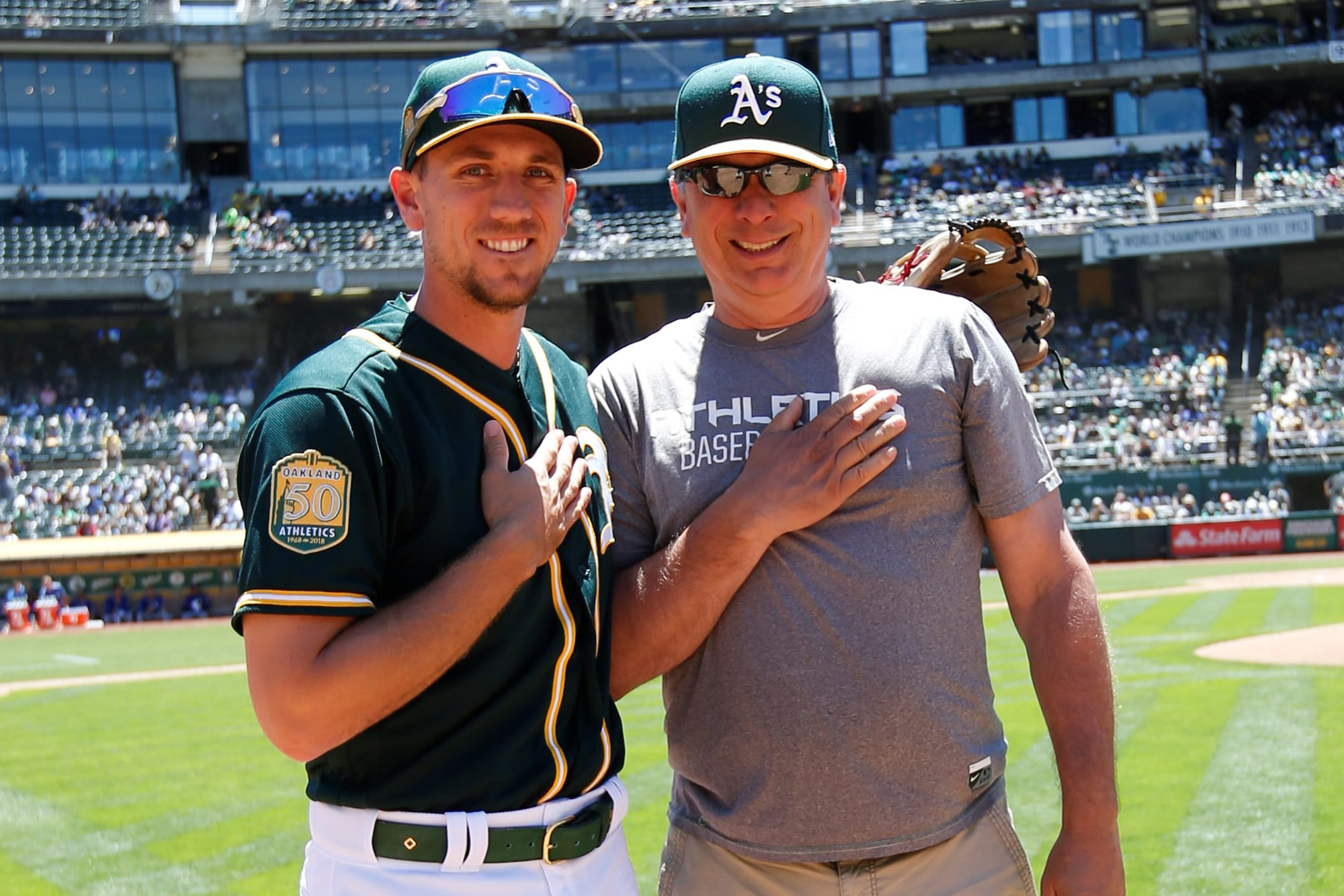 Stephen Piscotty with Father, Mike