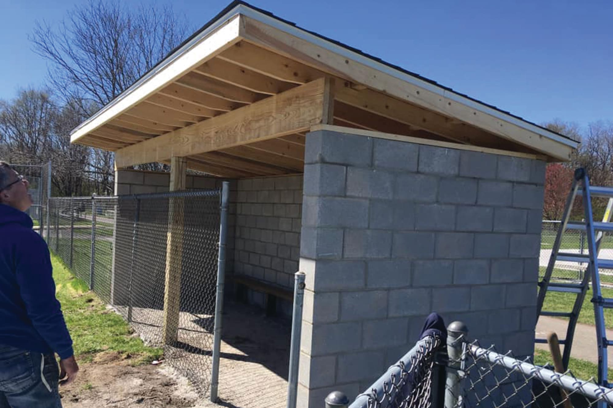 DeMotte LL Dugout built from Grow the Game Grant