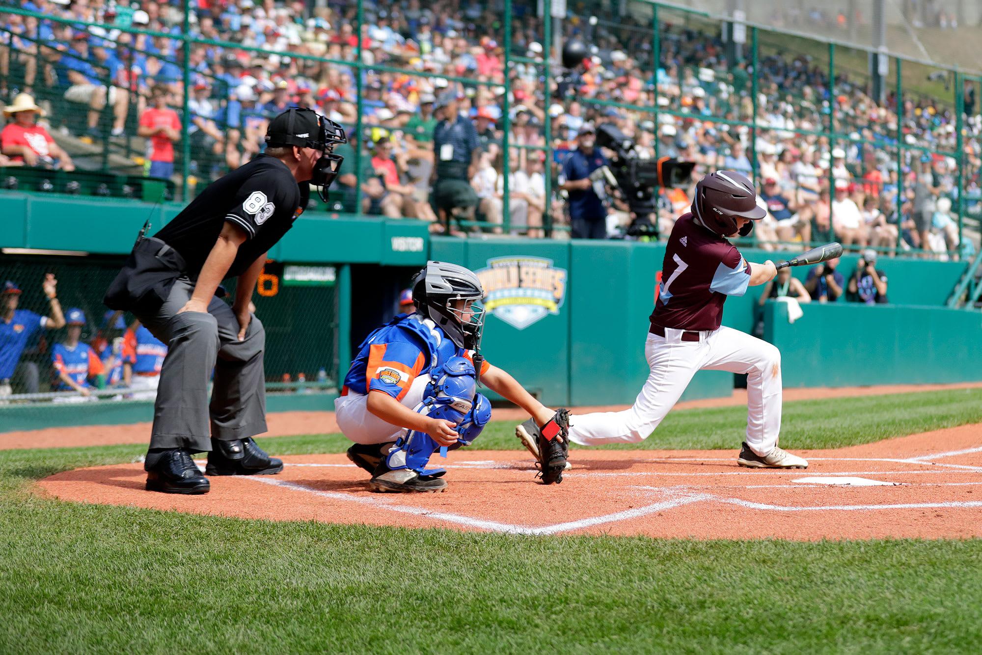 ne batter swinging at ball