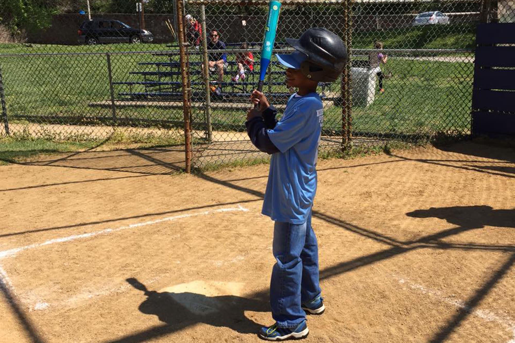 Cheltenham (Pa.) Little League player ready to bat