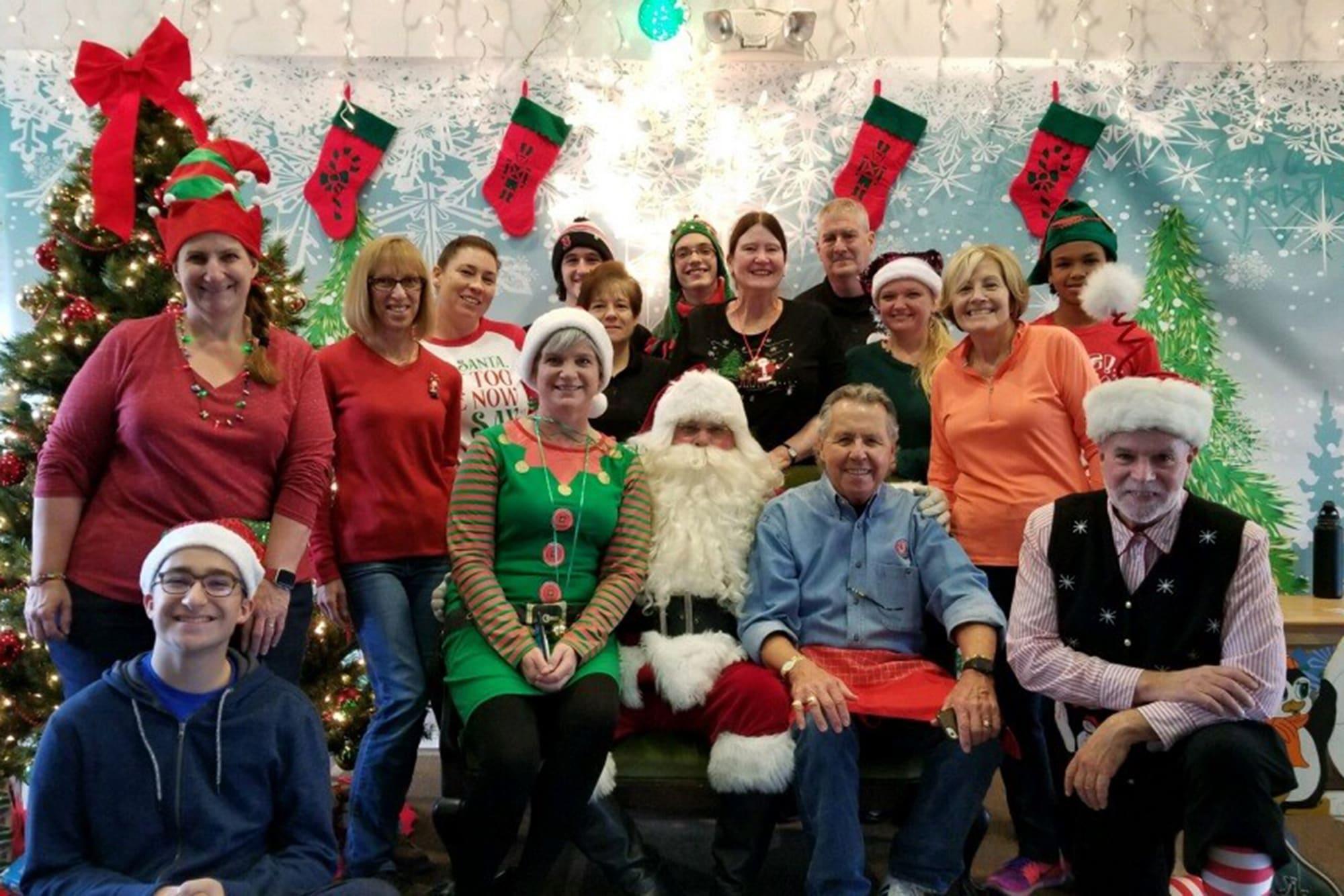 Santa visits the East Region staff
