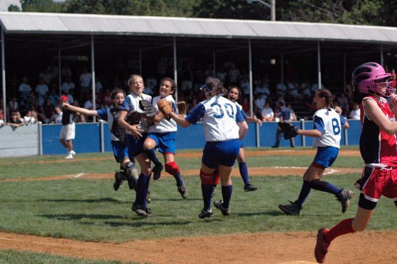 Kayla Lombardo's 2006 LLSWS team celebrates