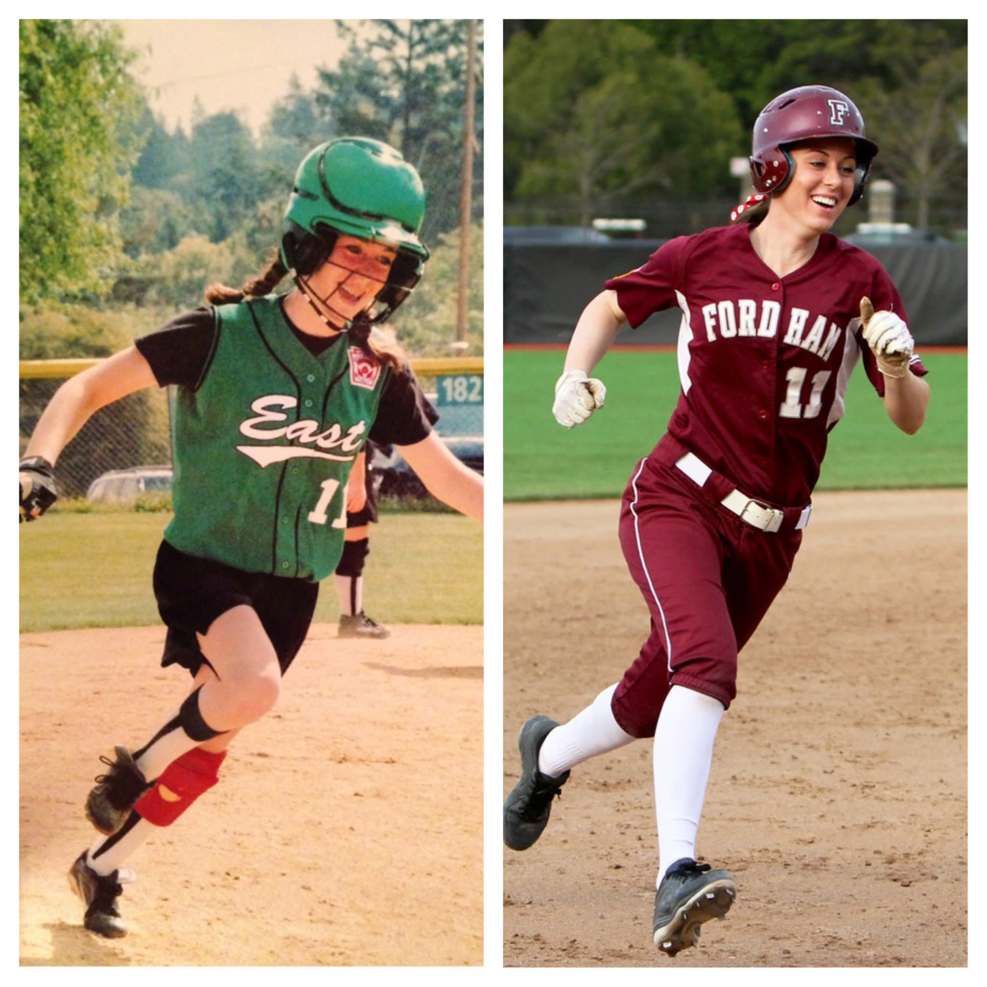 Kayla Lombardo as a LLer and college player