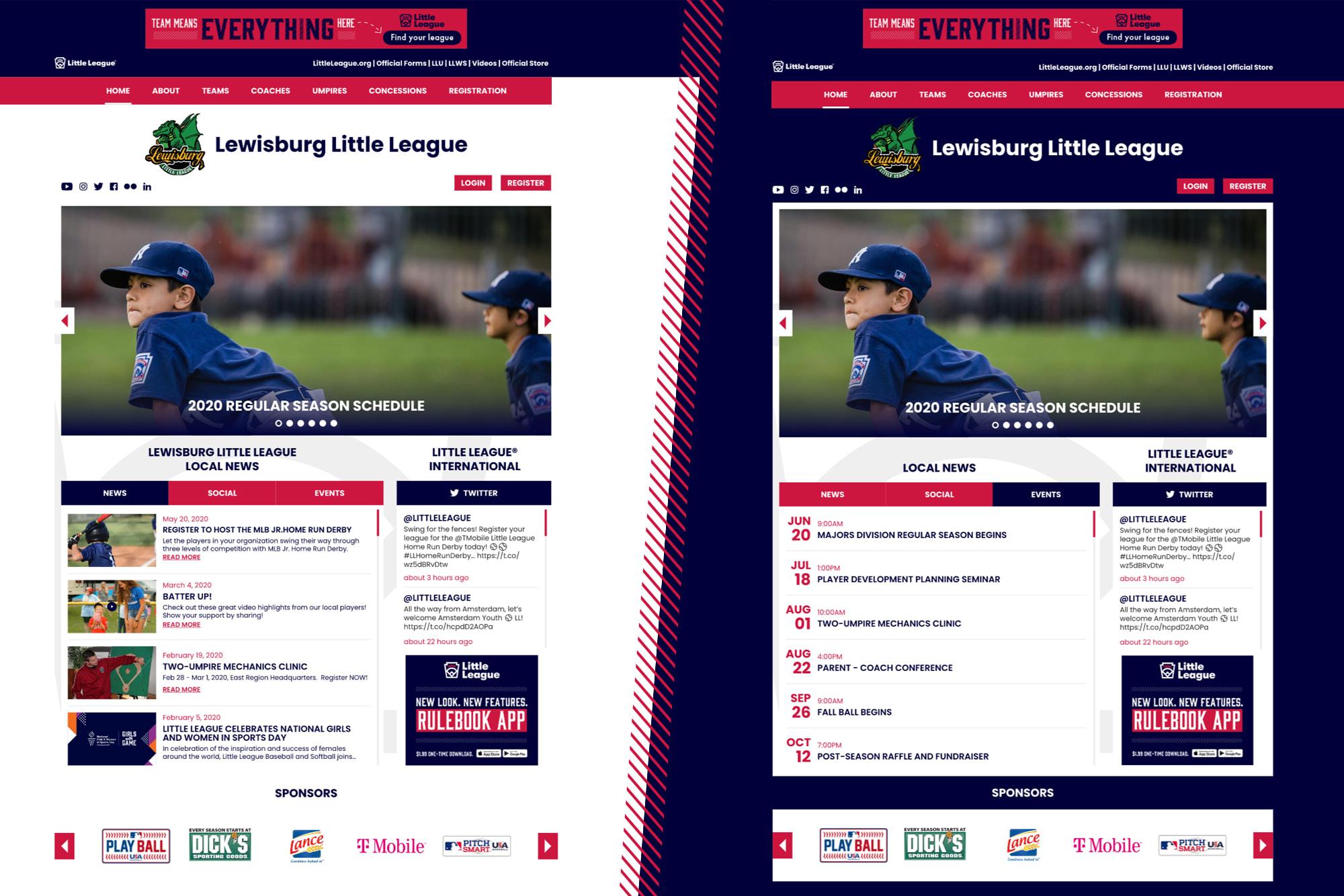 local league websites