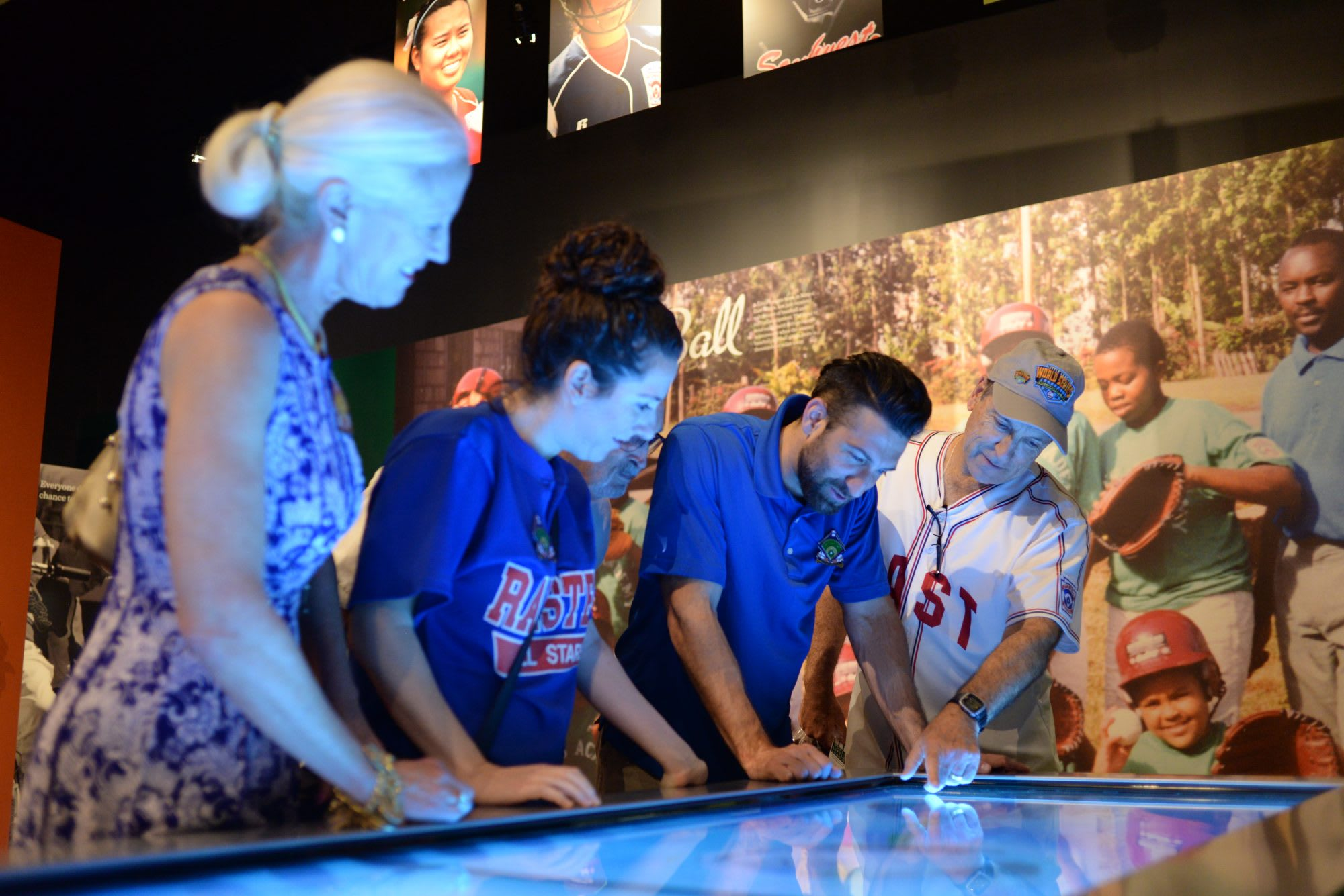 Visitors at the Museum Touch Table
