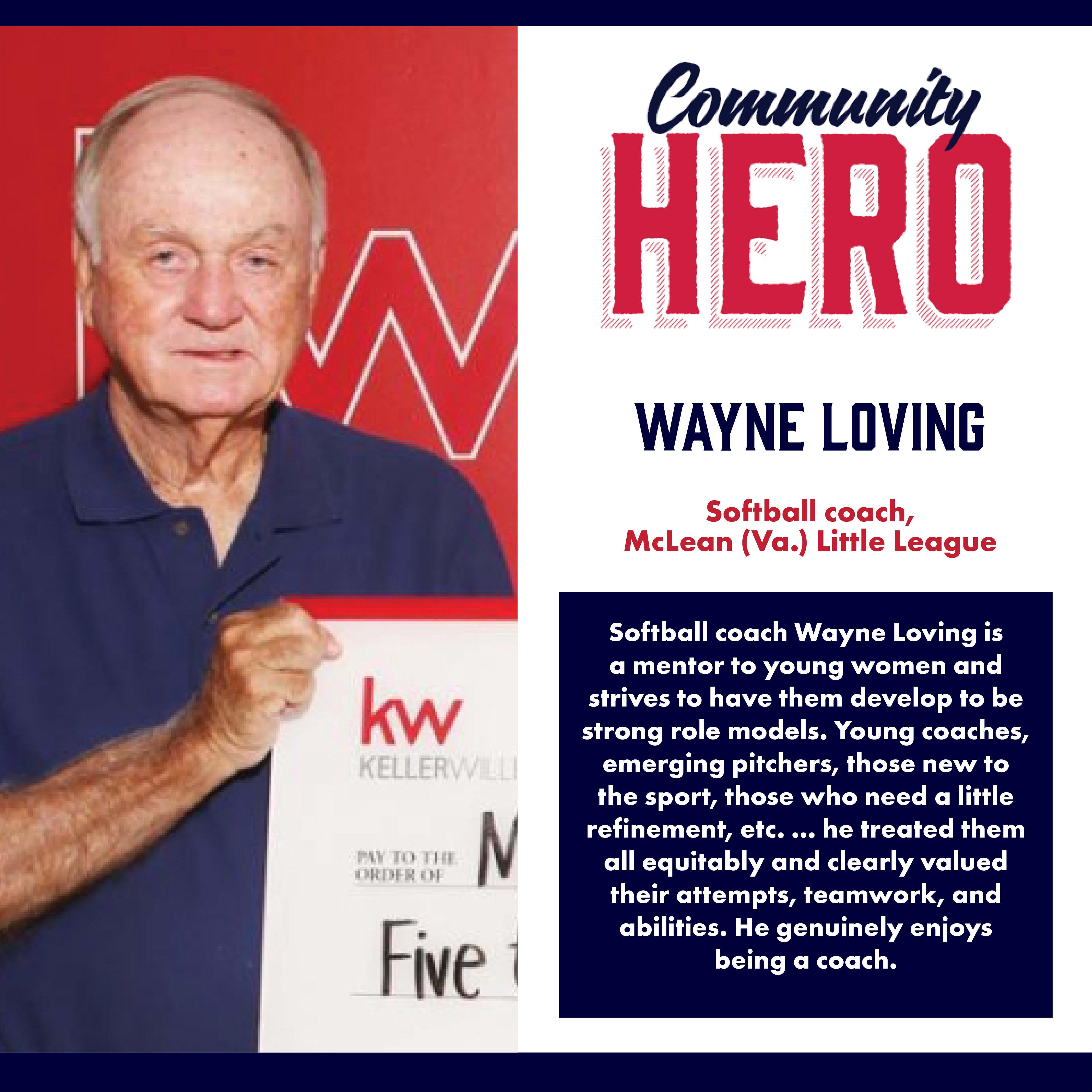 Wayne Loving Community Hero