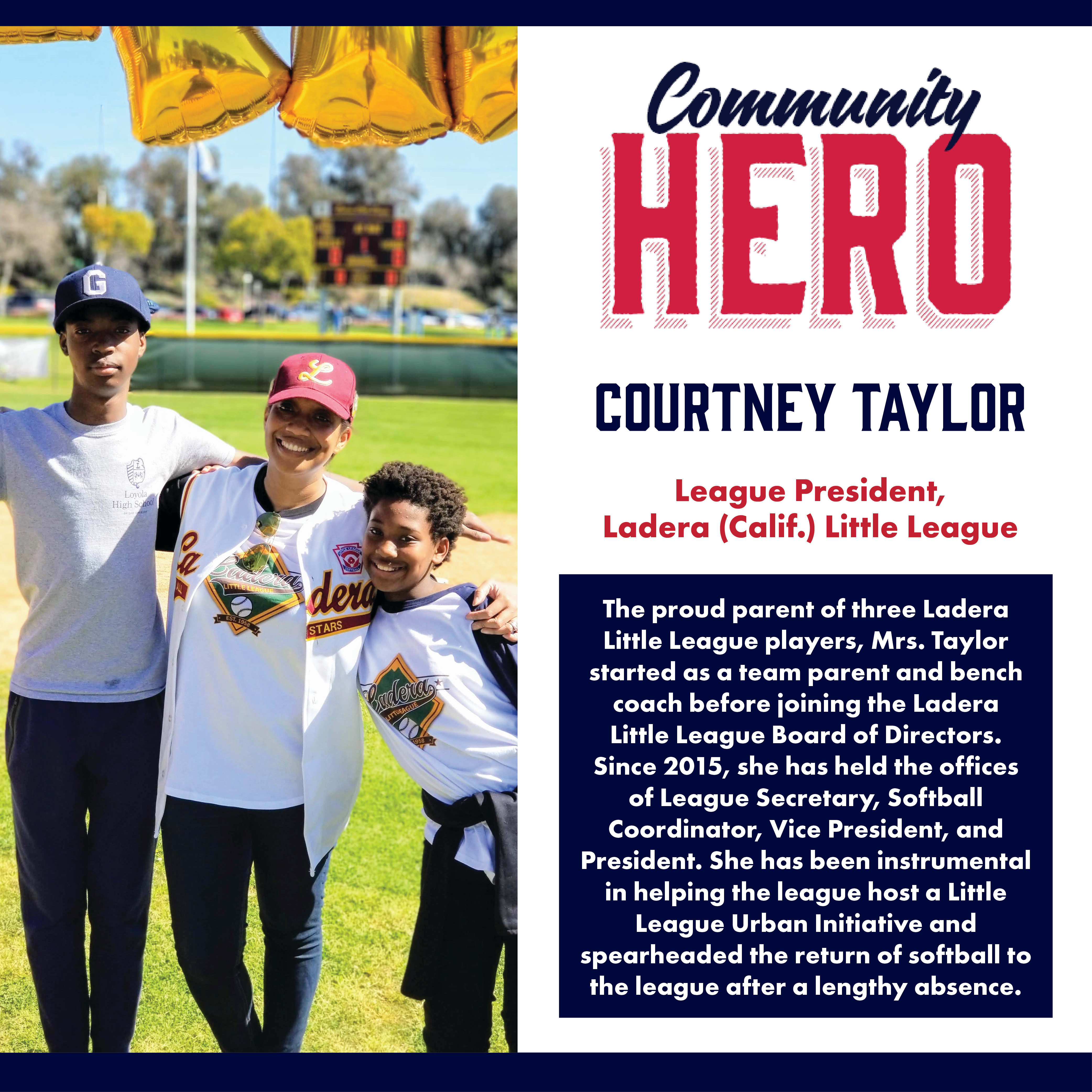 Courtney Taylor Community Hero