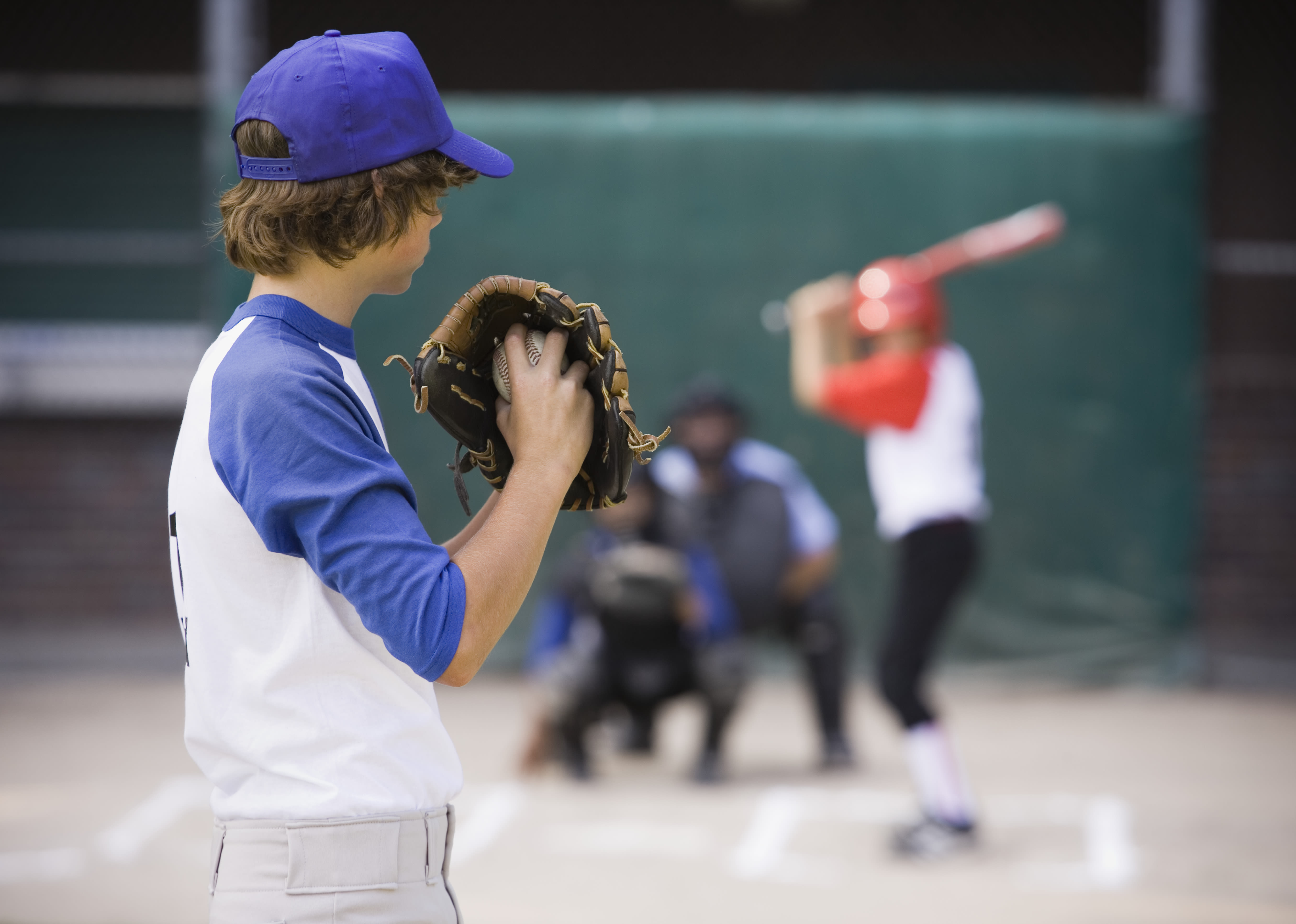 pitcher facing batter