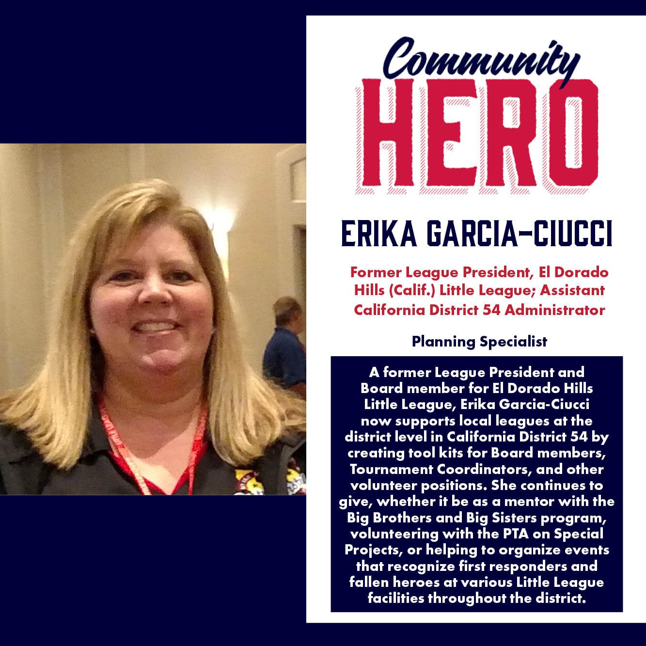 Erika Garcia-Ciucci Community Hero
