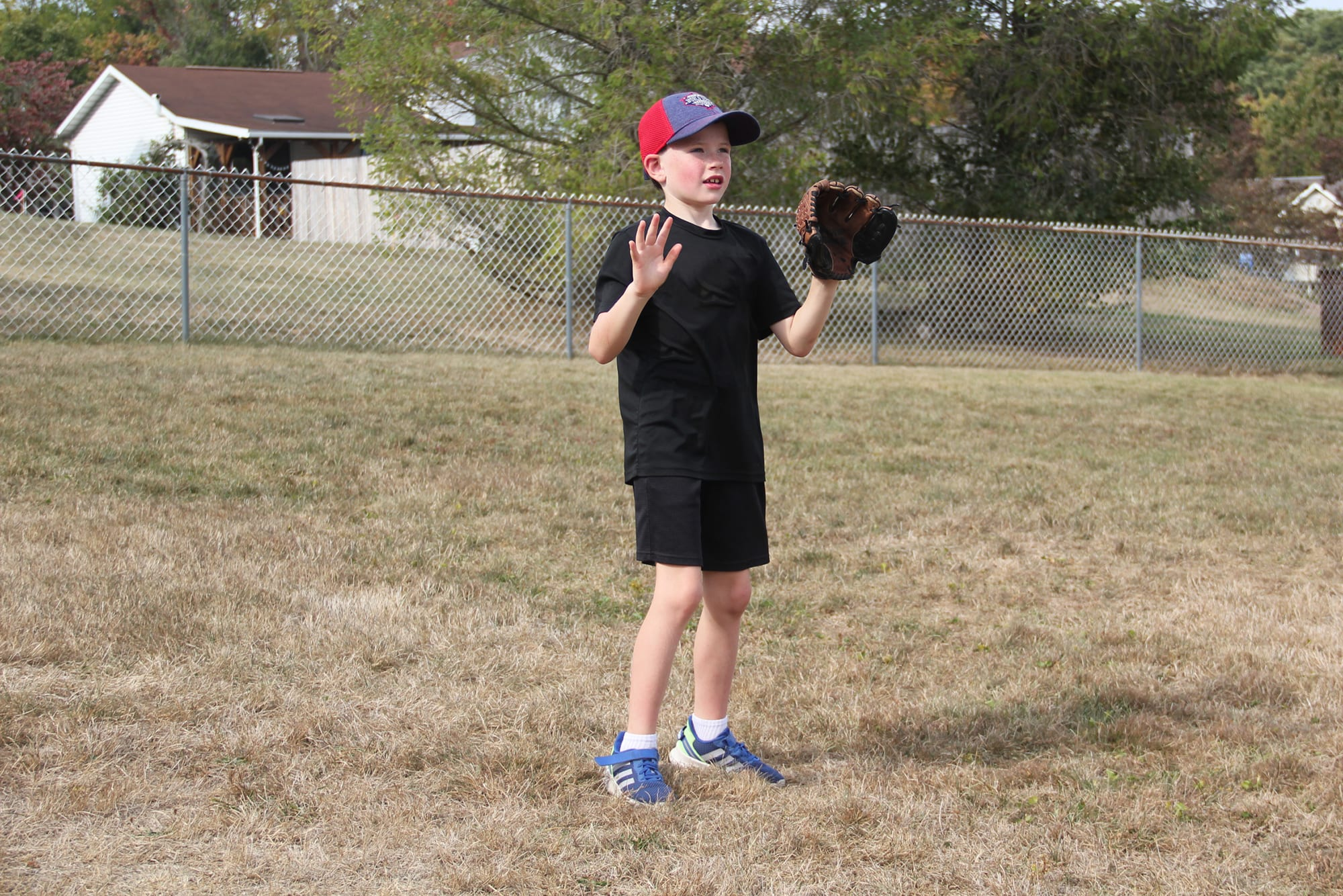 player ready to catch ball