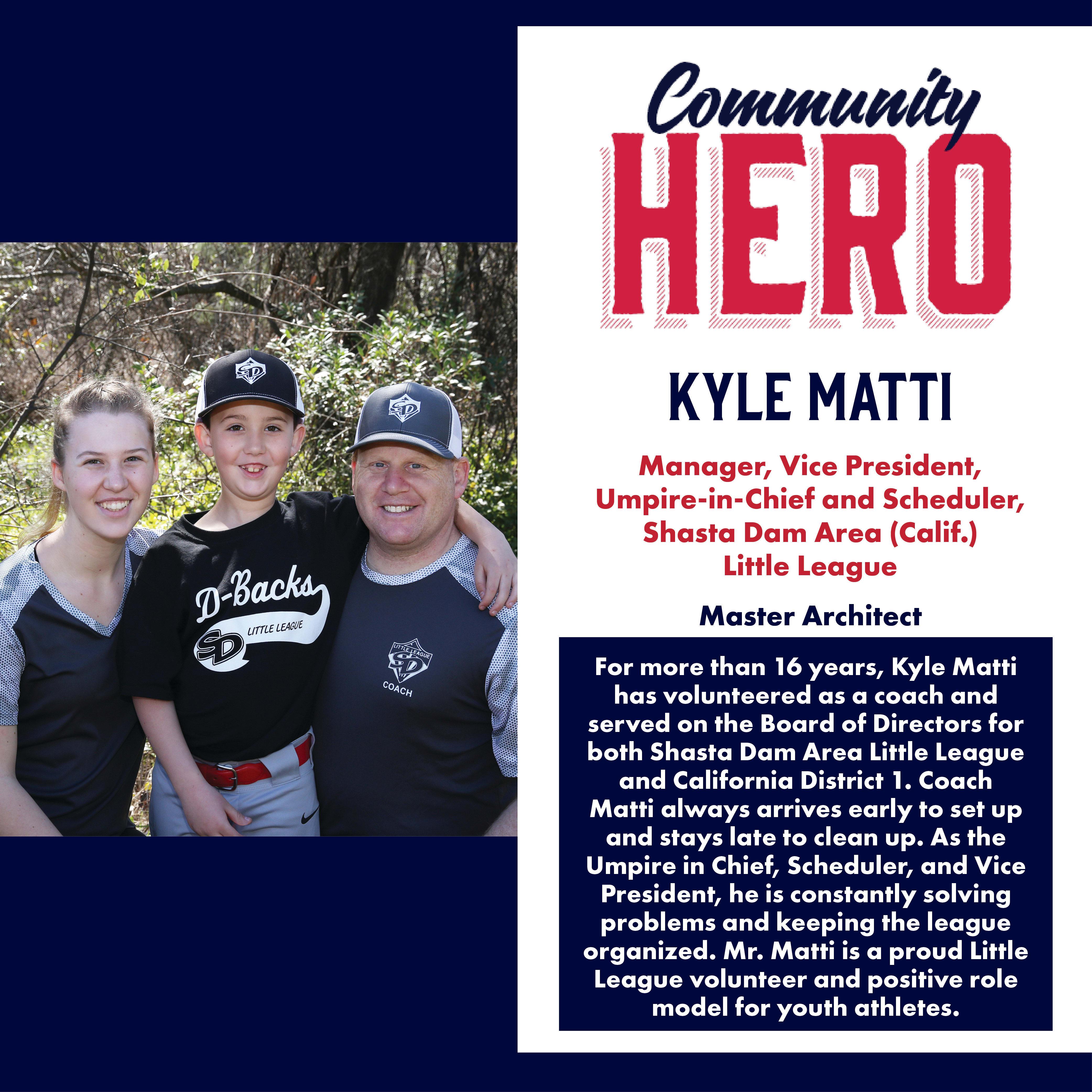 Kyle Matti Community Hero