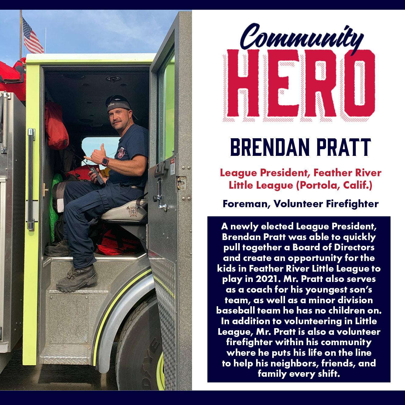 Brendan Platt Community Hero