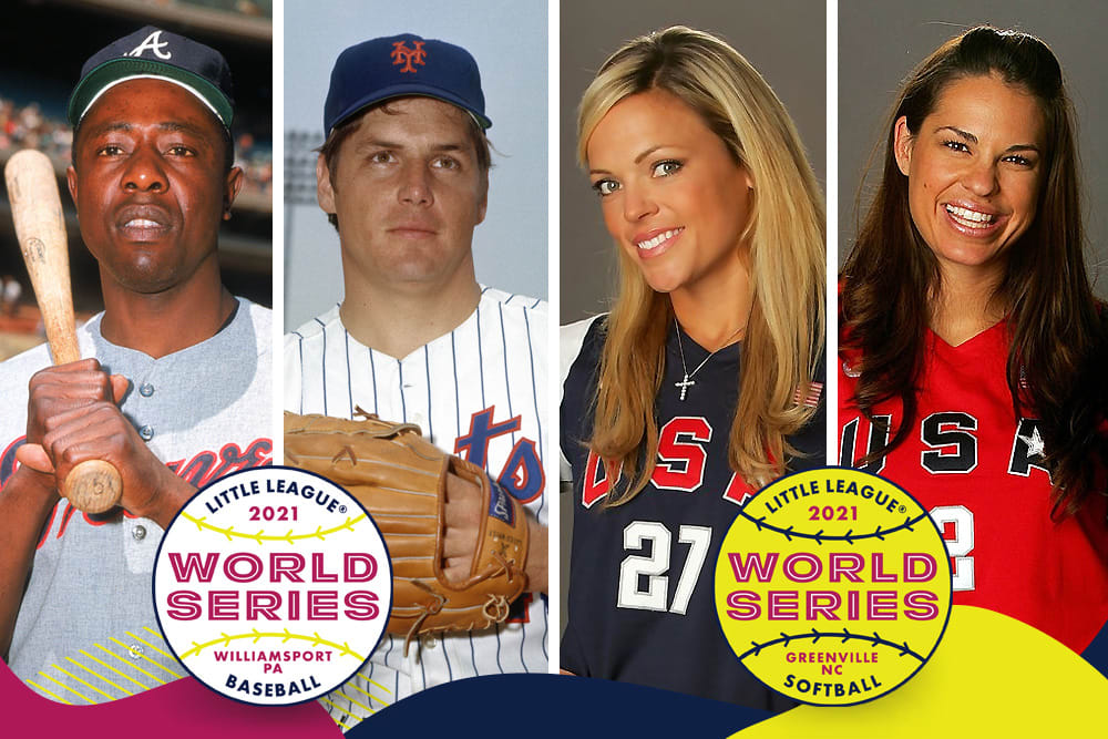 Hank Aaron, Tom Seaver, Jennie Finch, Jessica Mendoza