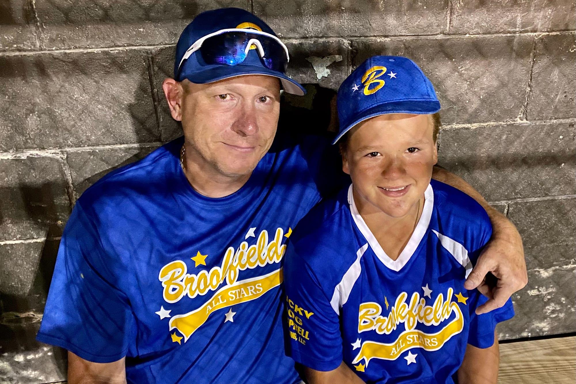 Maxx Kusper and Coach David Campbell