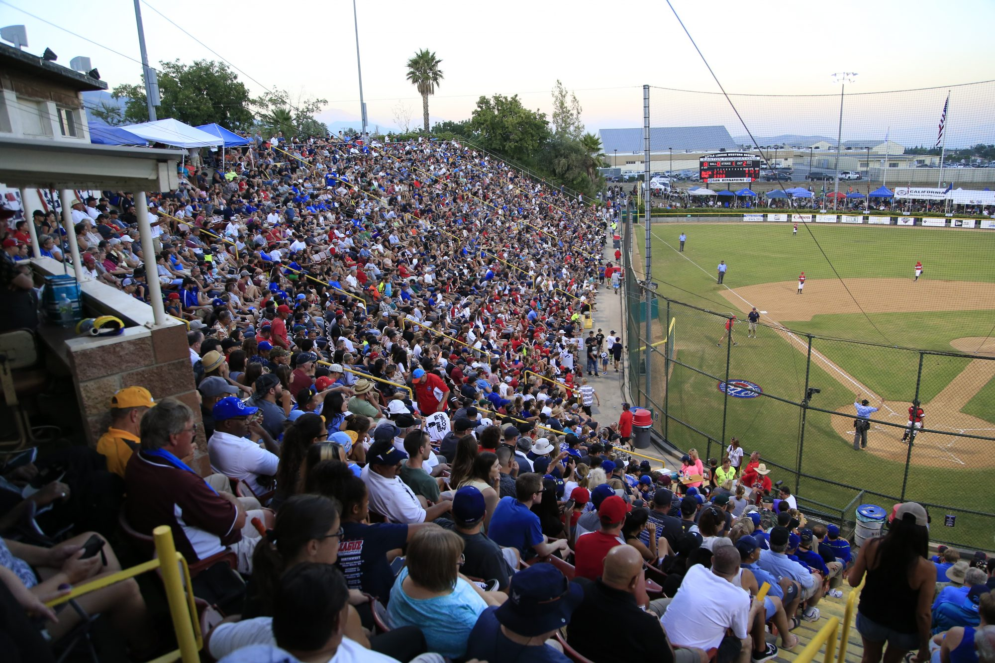 Crowd enjoying the experience at the 2017 Little League Baseball Western Regional Tournament.