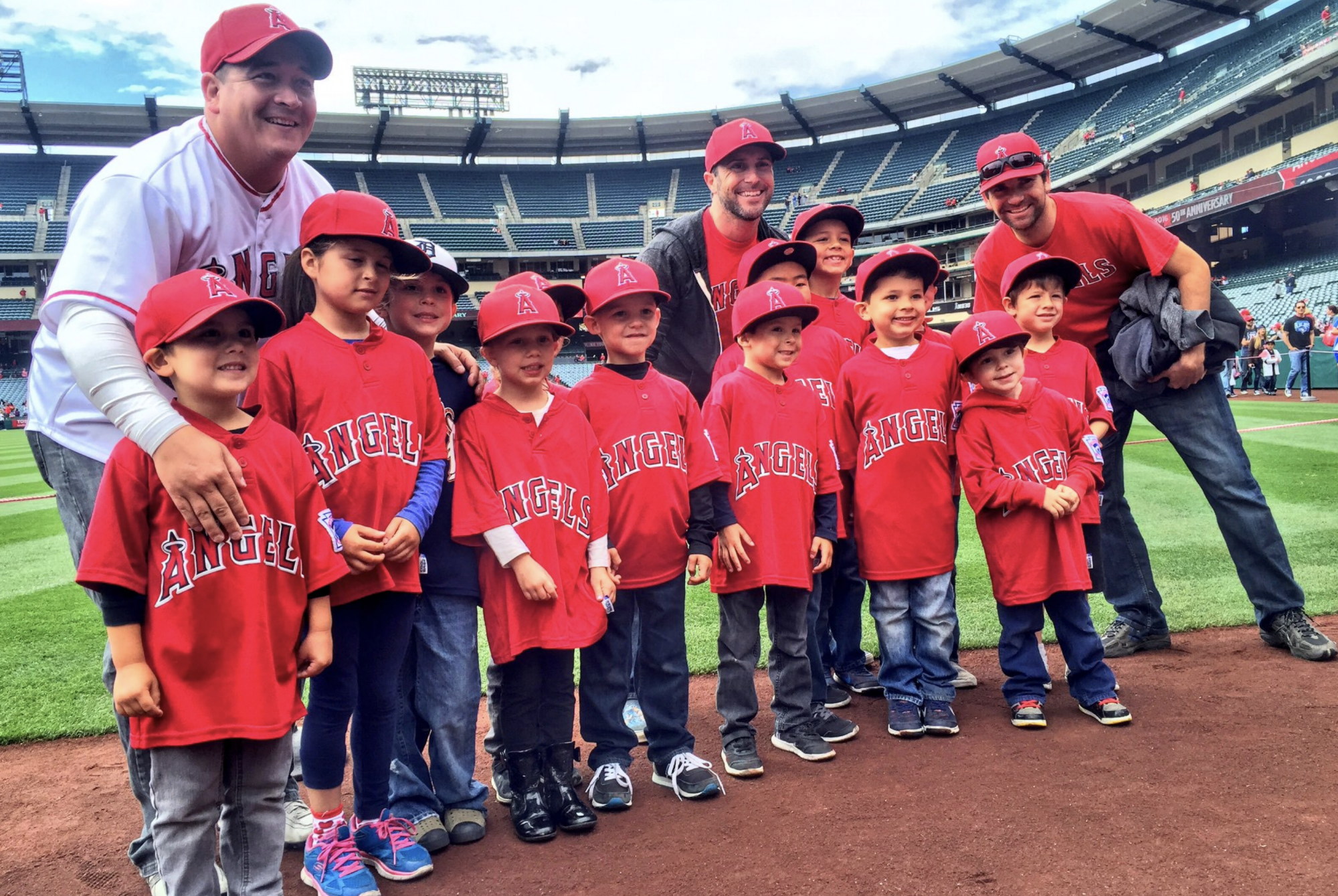 Little Leaguers enjoy a day with the Angels