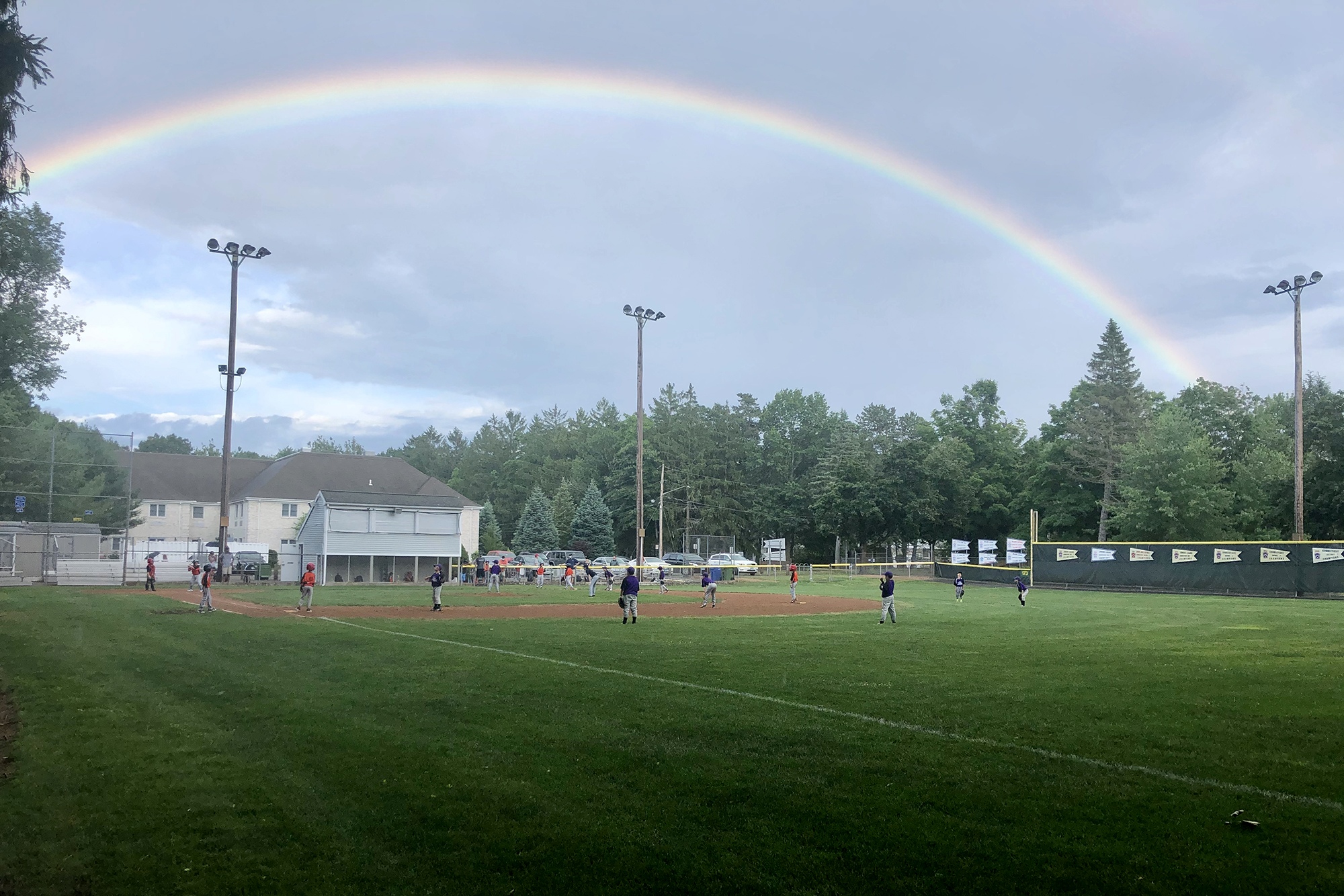 rainbow at a local field