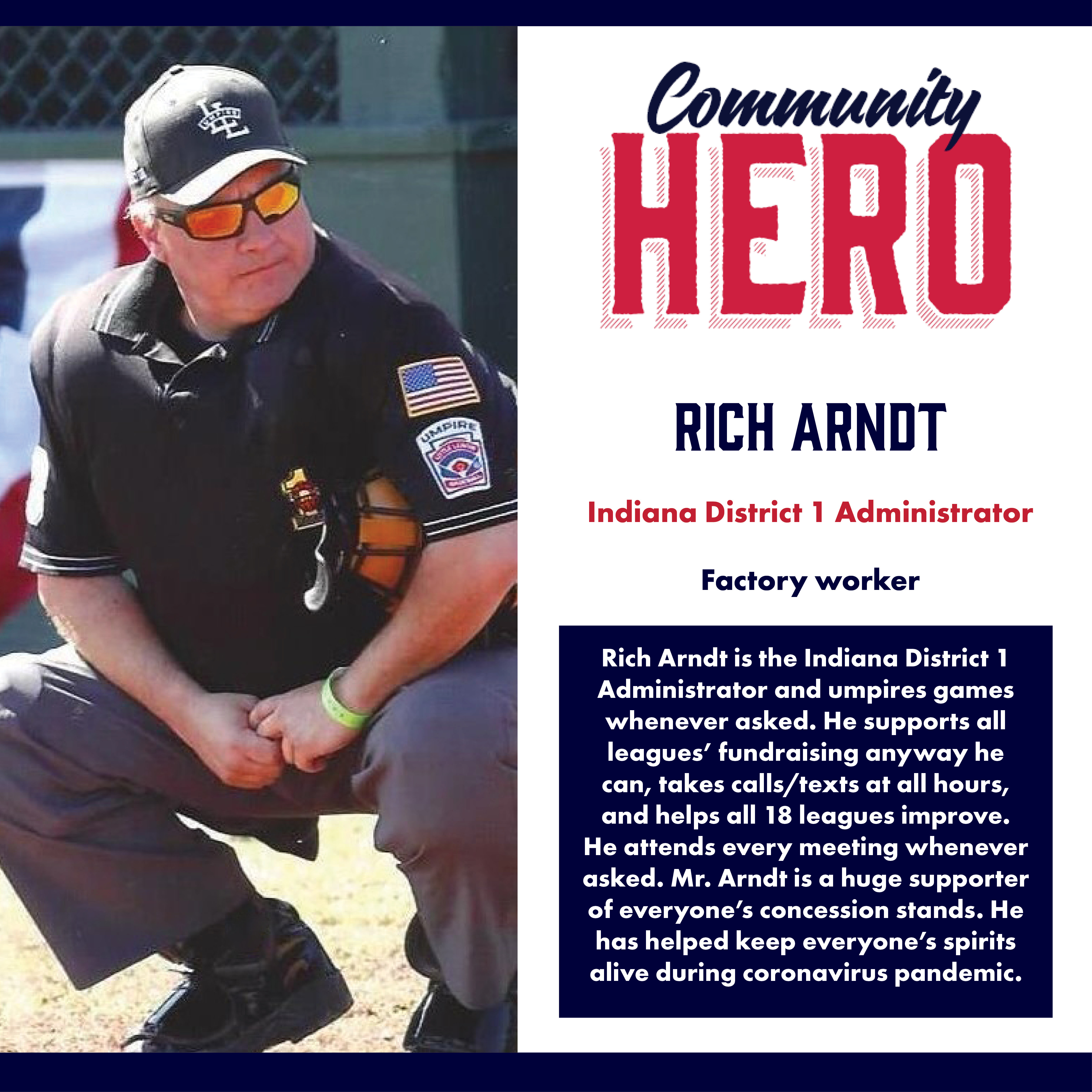 Rich Arndt Community Hero