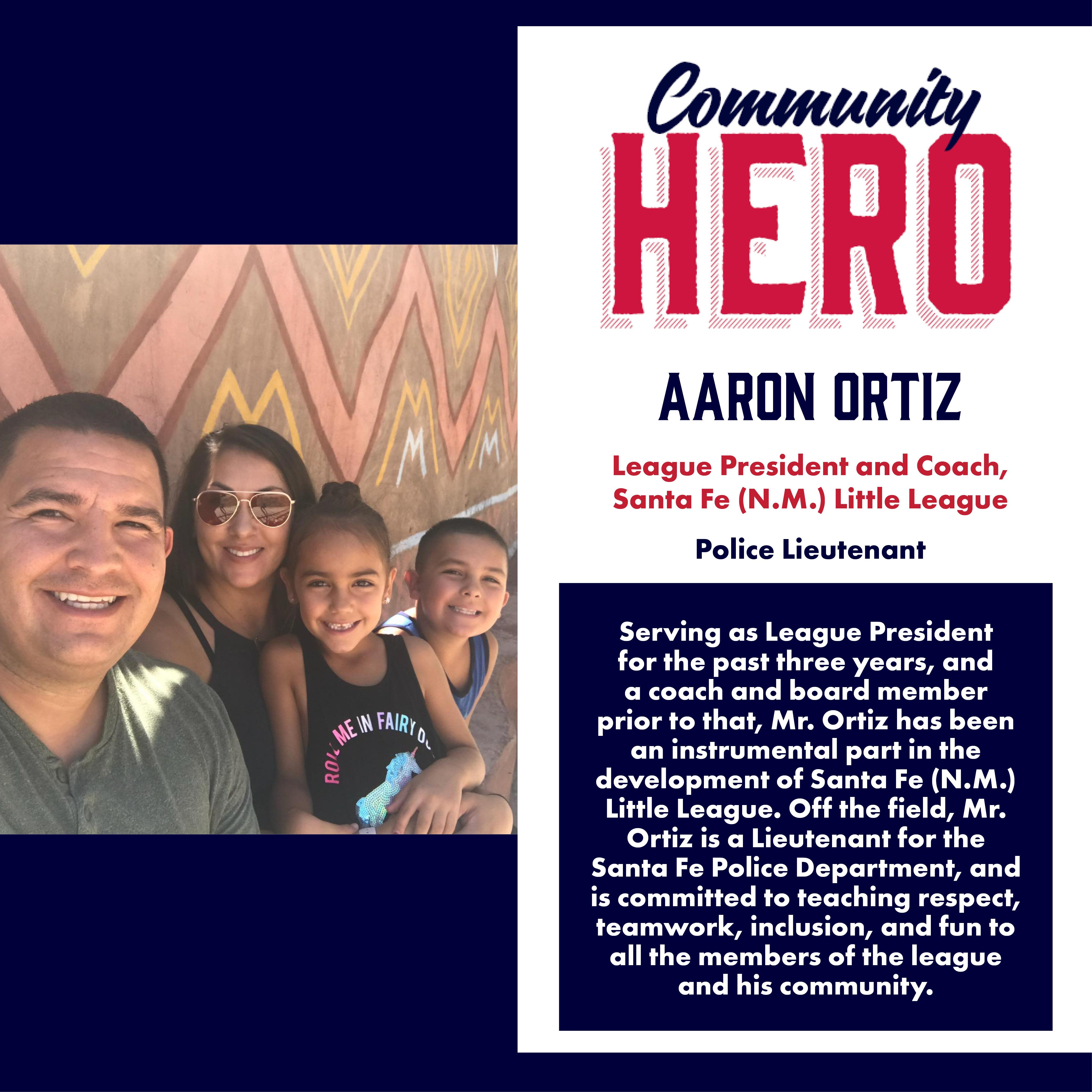 Aaron Ortiz Community Hero