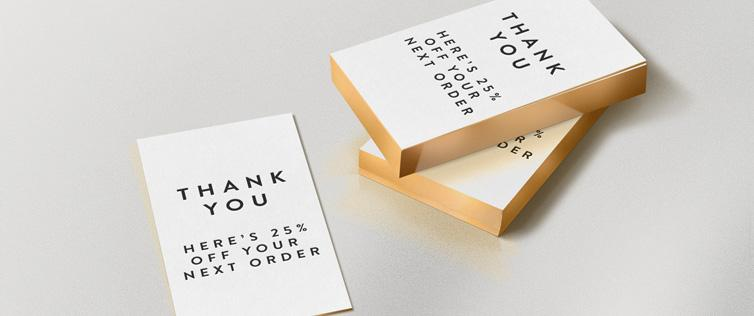 Ecommerce thank you cards