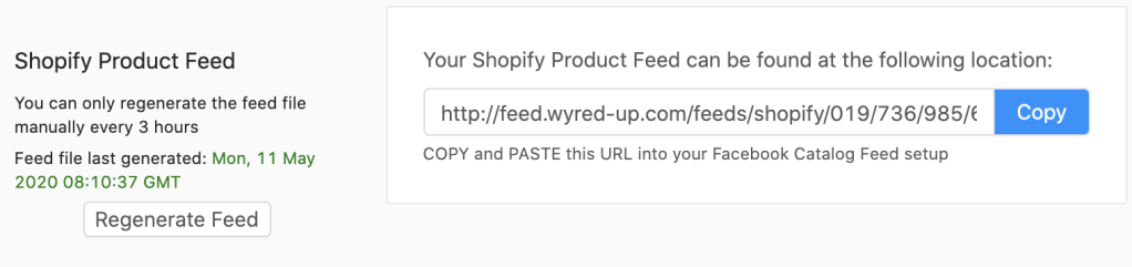 generate product feed
