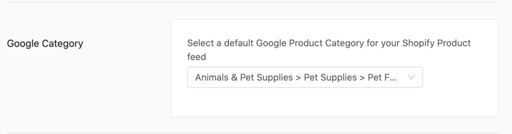 feed settings GPC