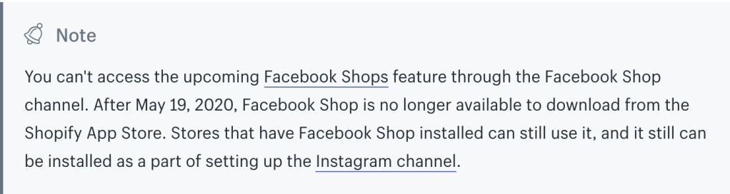 Shopify shuts down Facebook channel