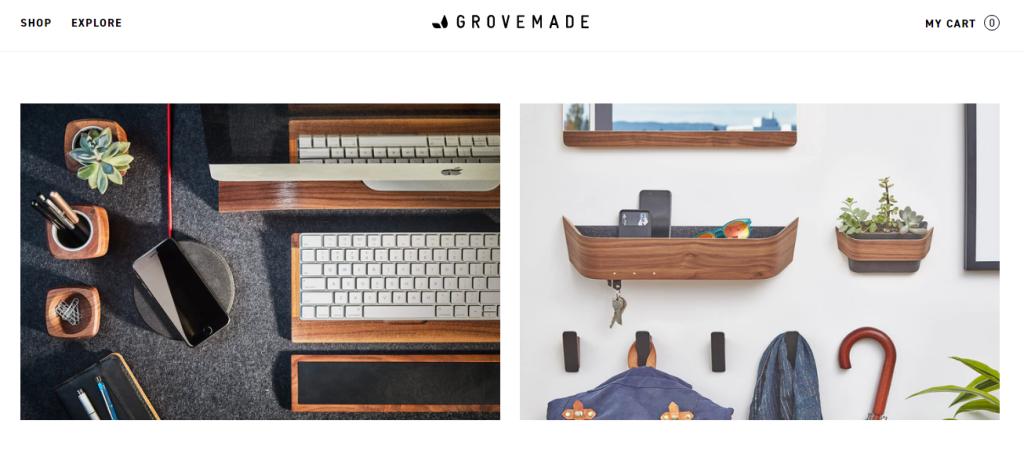 Grovemade ecommerce site