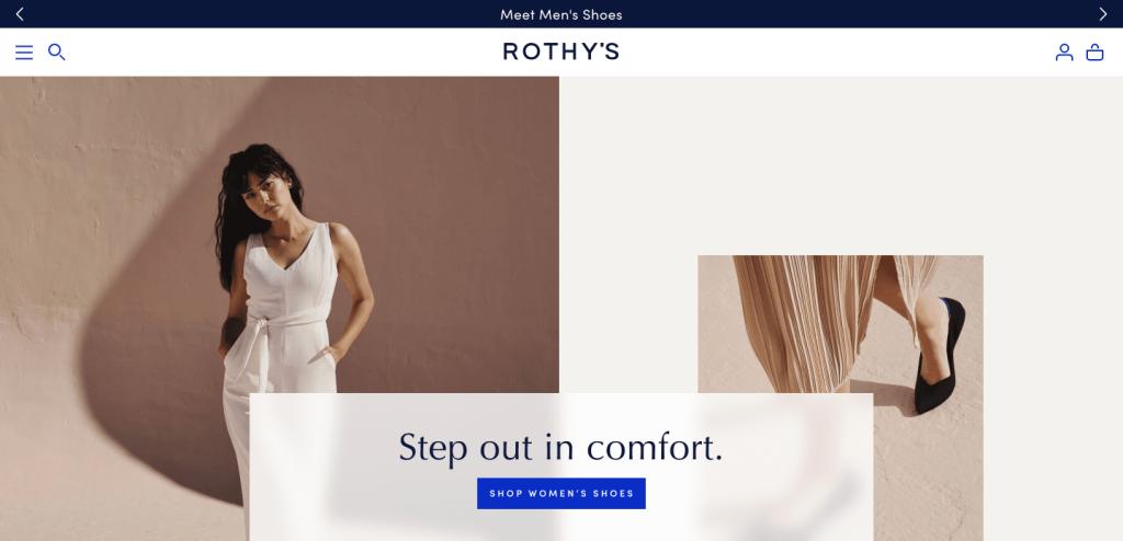 Rothys.com homepage
