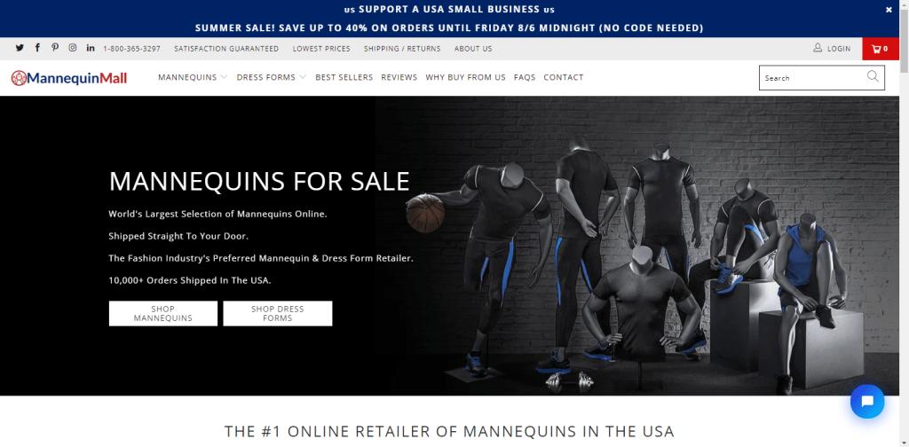 mannuequinmall.com website