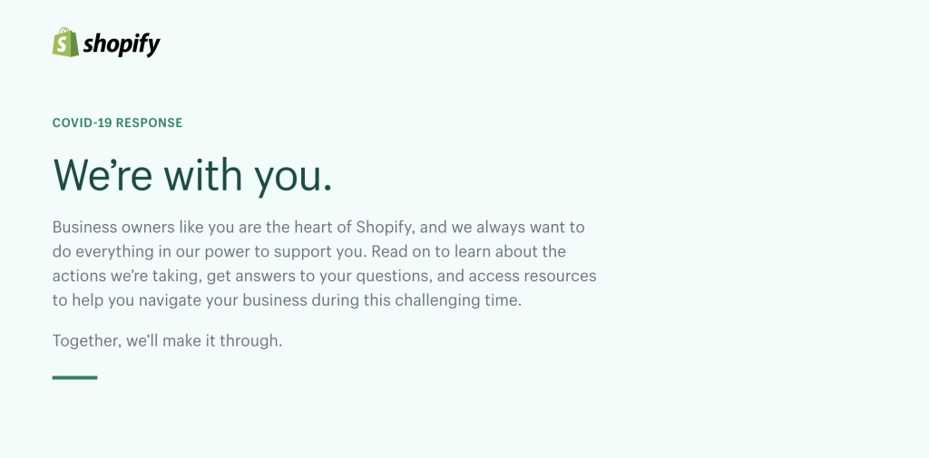 Shopify and COVID-19