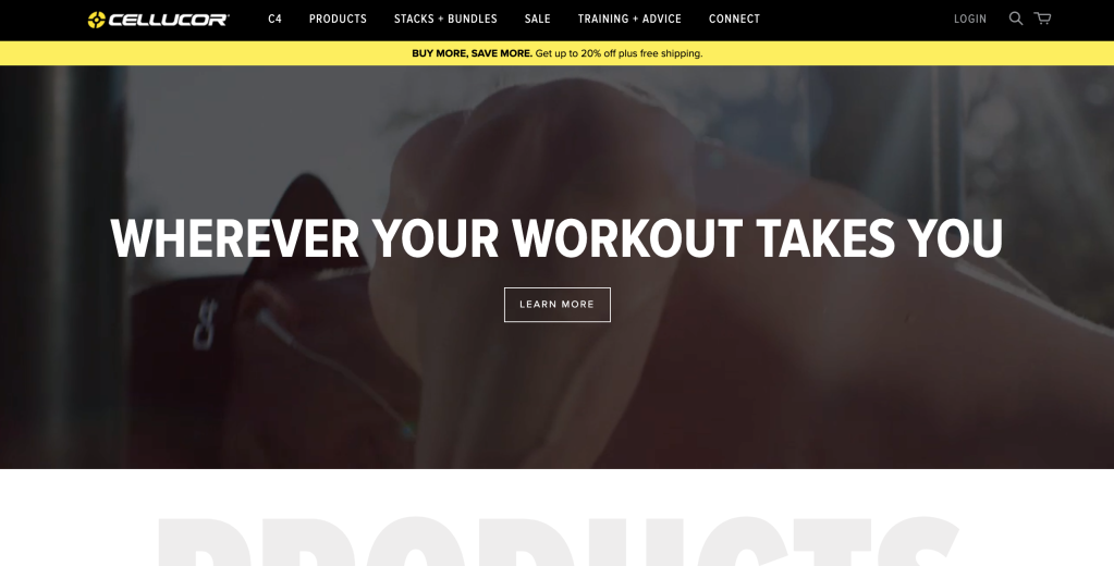 cellucor ecommerce data shopify segment app