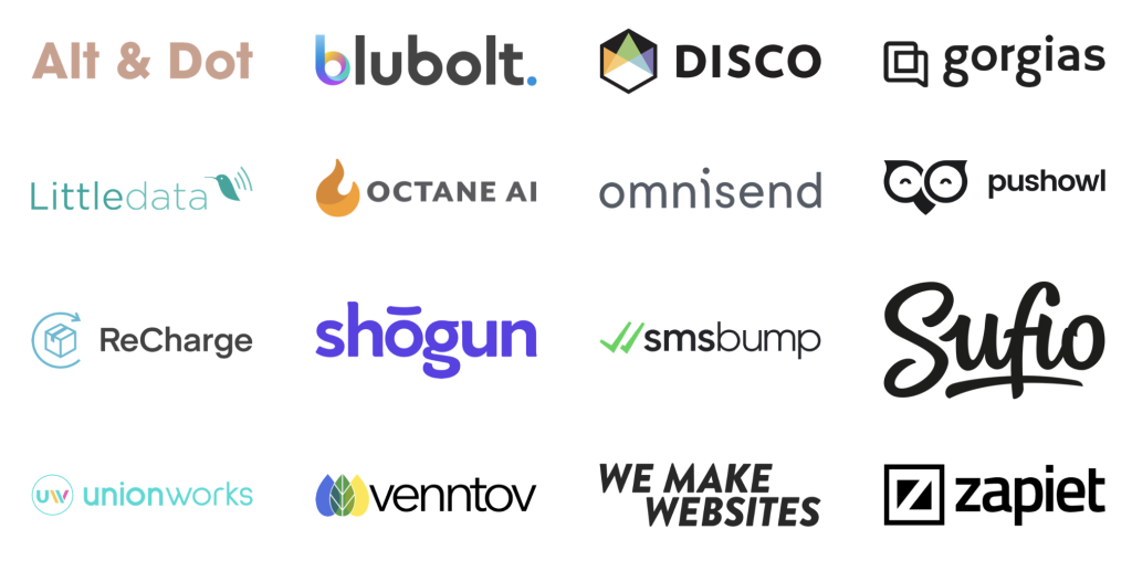 De:brief Shopify Unite event sponsors