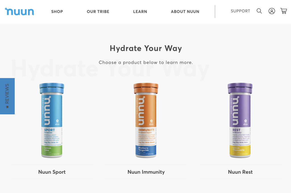 Nuun using Shopify and Segment